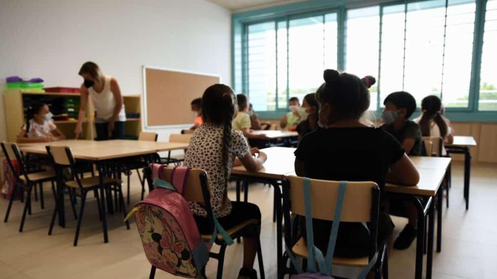 Una clase al inicio del curso escolar en Valencia en septiembre de 2021.