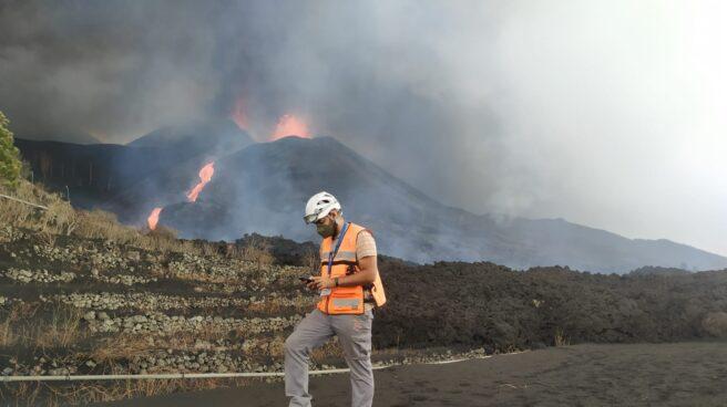 Erupción del volcán de Cumbre Vieja en La Palma a 13 de octubre de 2021