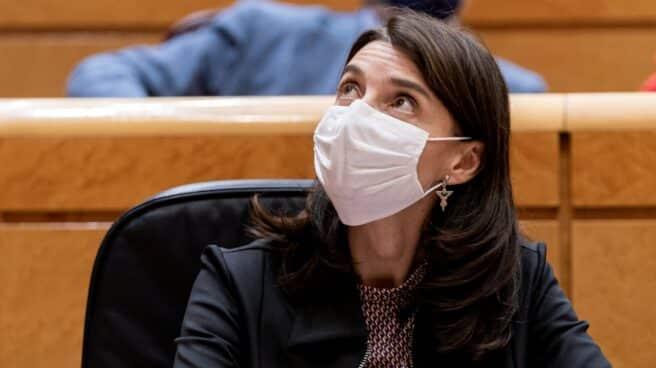 La ministra de Justicia, Pilar Llop, en una sesión de control al Gobierno en el Senado.