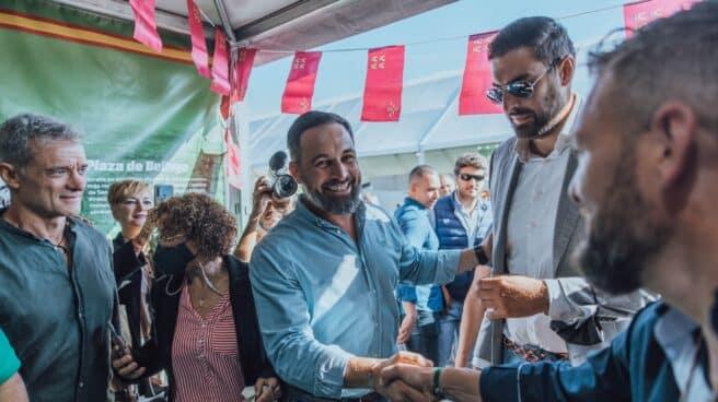 Santiago Abascal en el evento de VOX en Ifema