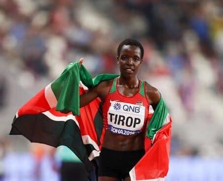 La atleta keniata Agnes Tirop.