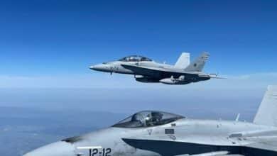 Cómo se ve Madrid desde un F5 del Ejército del Aire