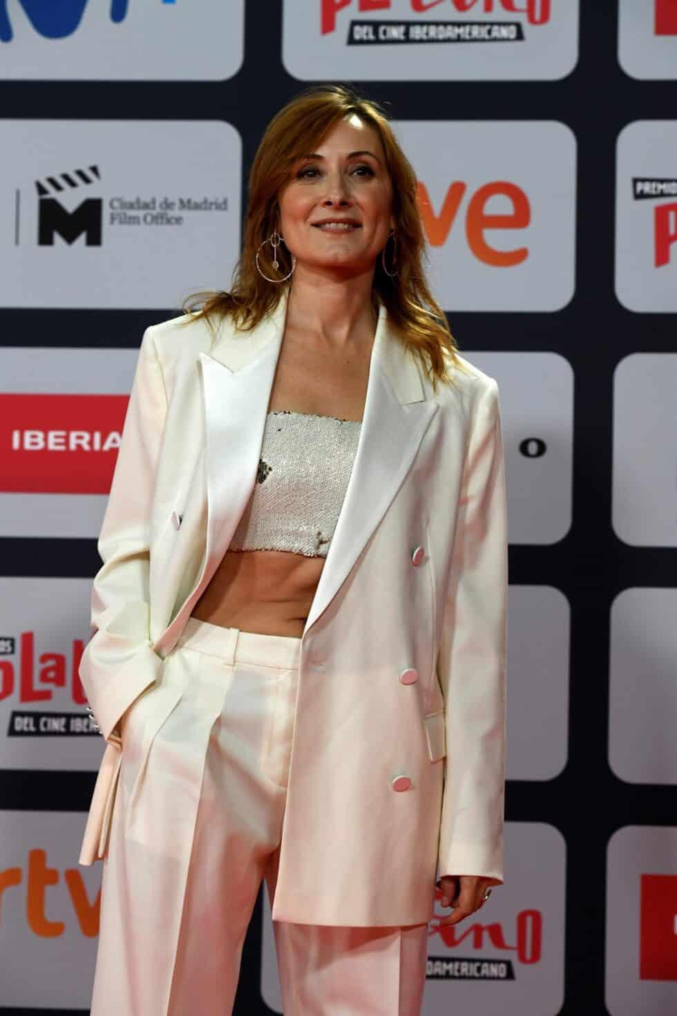 La actriz Ana Milán, a su llegada a la ceremonia de entrega de los Premios Platino del Cine y el Audiovisual Iberoamericano que se celebra este domingo en Madrid