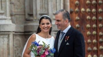 Javier Ortega Smith se casa en Toledo con la mexicana Paulina Sánchez del Río
