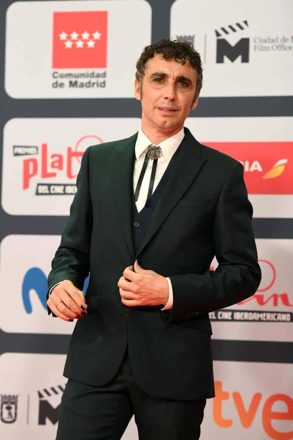 El actor Cacop Rodríguez, a su llegada a la ceremonia de entrega de los Premios Platino del Cine y el Audiovisual Iberoamericano que se celebra este domingo en Madrid