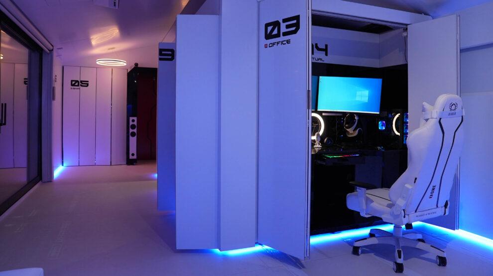 El interior de la casa del futuro, con módulos que se mueven para crear espacios y la última tecnología
