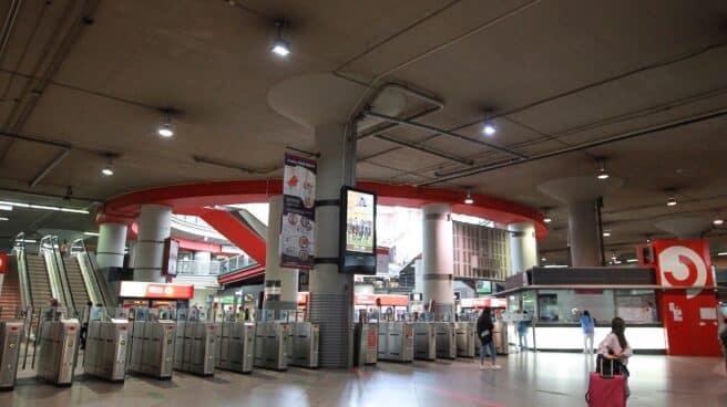 Vista de la estación de trenes de cercanías de Atocha