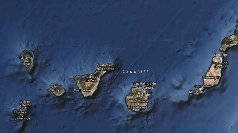 Mapa satélite de las Islas Canarias