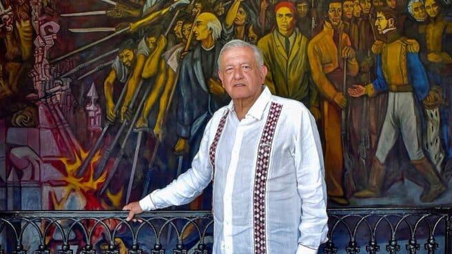 El presidente de México, Andrés Manuel López Obrador, en Michoacán.
