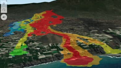 El mapa interactivo con el que ver cada detalle de las coladas del volcán