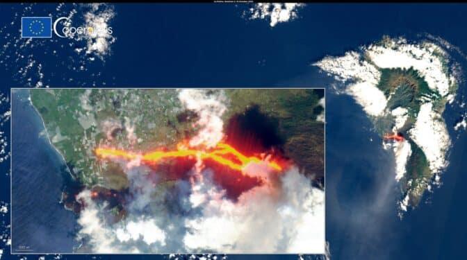 Satélites, los vigilantes espaciales del volcán al servicio de la ciudadanía