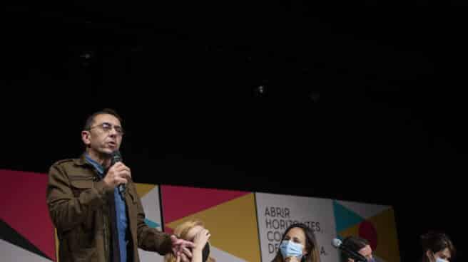 Juan Carlos Monedero, en la universidad de otoño de Podemos.