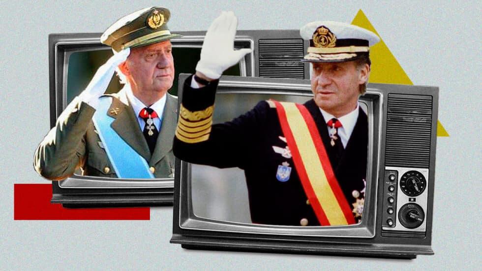 Dos imágenes de Juan Carlos I de España