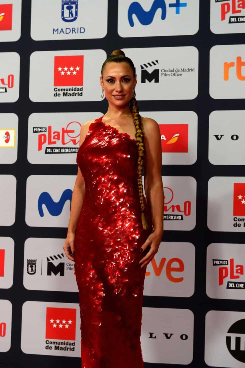 La actriz Natalia Bermeke, a su llegada a la ceremonia de entrega de los Premios Platino del Cine y el Audiovisual Iberoamericano que se celebra este domingo en Madrid