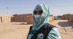 Las saharauis que toman el mando cuando ellos se van a la guerra