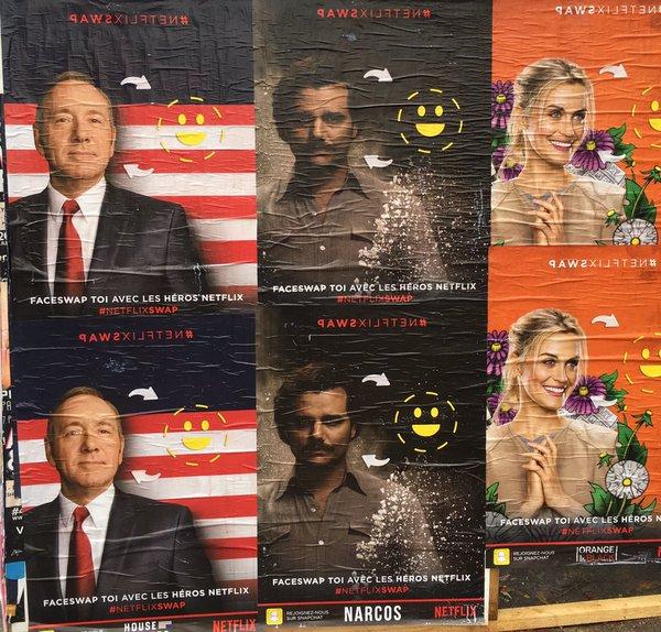 Face Swap de 'Netflix France'