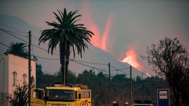 El volcán de La Palma, en erupción.