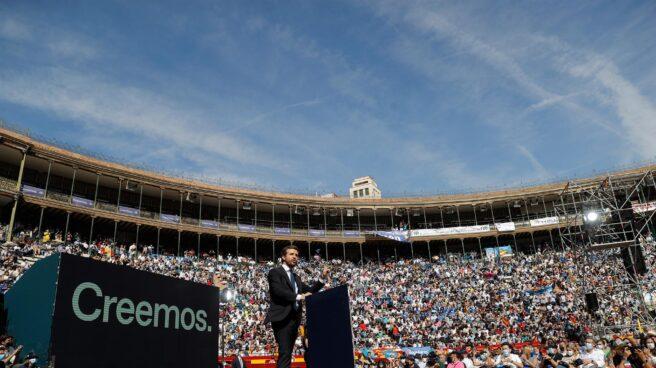 Pablo Casado, durante la convención nacional del PP en la plaza de toros de Valencia.
