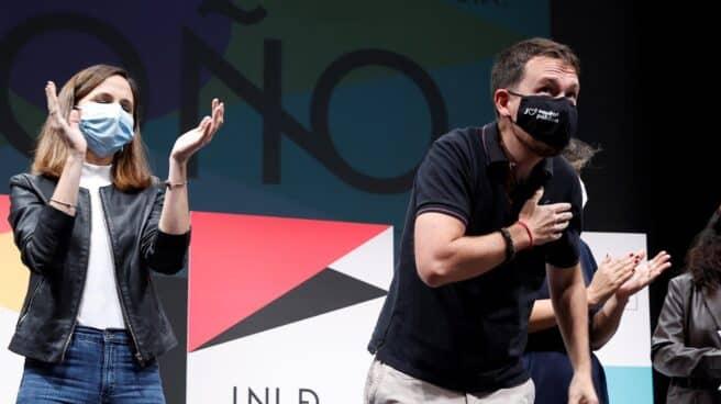 Pablo Iglesias e Ione Belarra, en la universidad de otoño de Podemos.