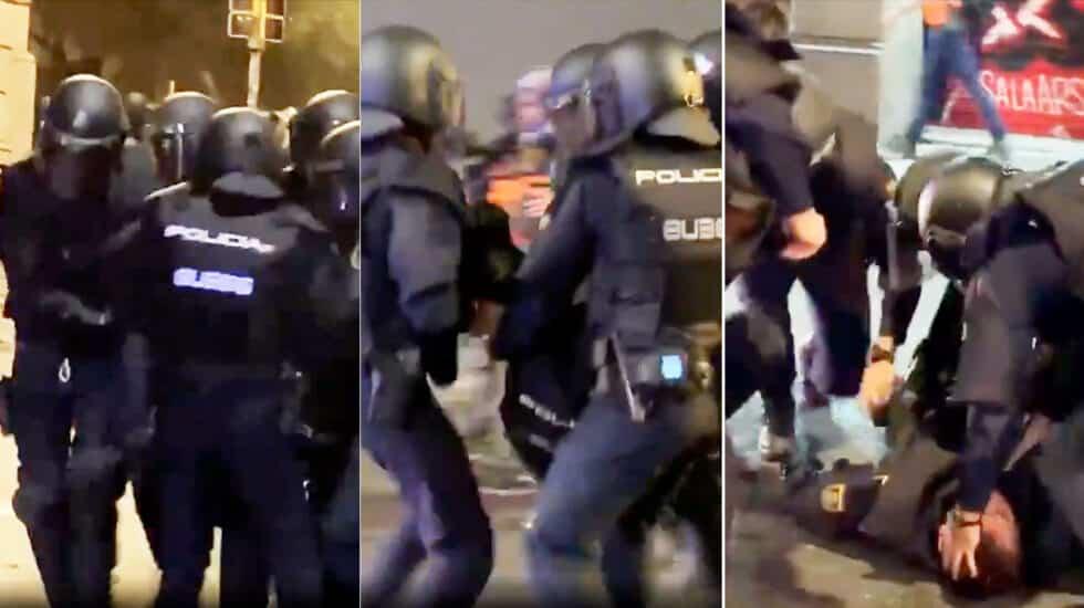 Secuencia del traslado de Iván Álvarez tras caer desplomado al suelo por el impacto de objeto pesado en la cabeza.