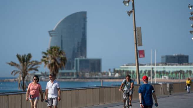 Imagen de una playa de Barcelona.