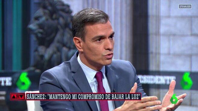 Pedro Sánchez, durante su entrevista en La Sexta.