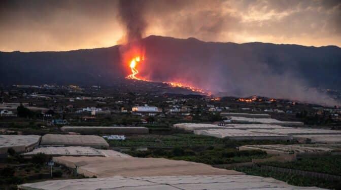 Más de 1.100 edificaciones afectadas por la lava del volcán de La Palma