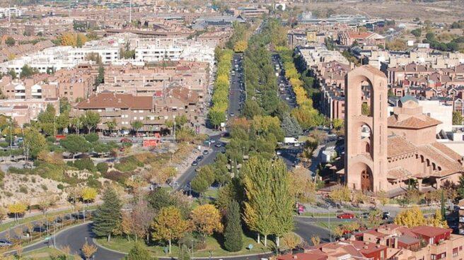 Vista aérea del municipio de Pozuelo de Alarcón.