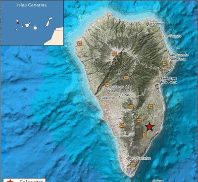 Localización del epicentro del terremoto