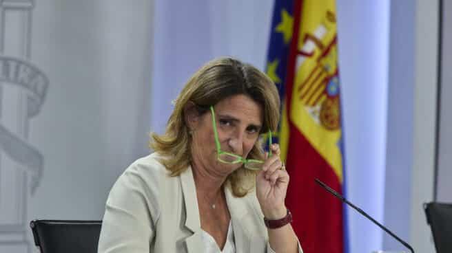 La vicepresidenta tercera y ministra de Transición Ecológica y Reto Demográfico, Teresa Ribera, en una rueda de prensa posterior al Consejo de Ministros.